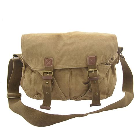 Uneed Duty Day Messenger Bag heavy duty khaki shoulder canvas