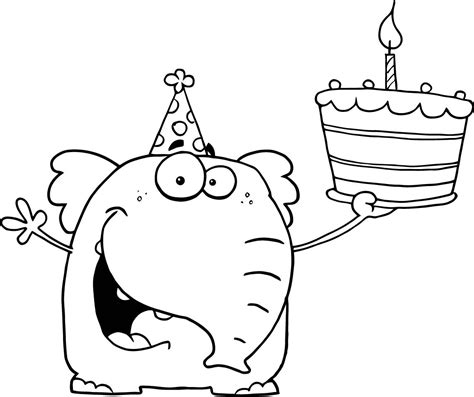 coloring pages first birthday happy 1st birthday coloring pages
