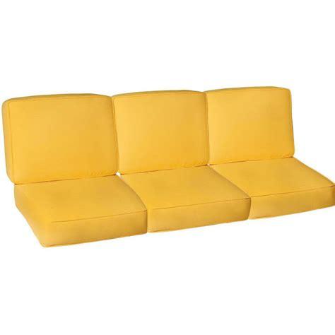 Sunbrella Canvas Buttercup Medium Outdoor Replacement Sofa