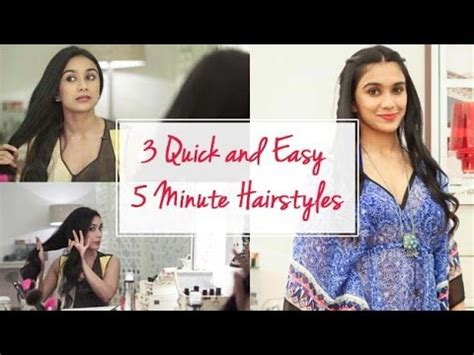 7 quick easy 5 minute hairstyles youtube 3 quick and easy 5 minute hairstyles youtube