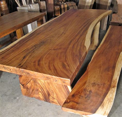 Salvaged Wood Kitchen Island by Large Natural Edge Dining Table W Steel Trestleimpact Imports