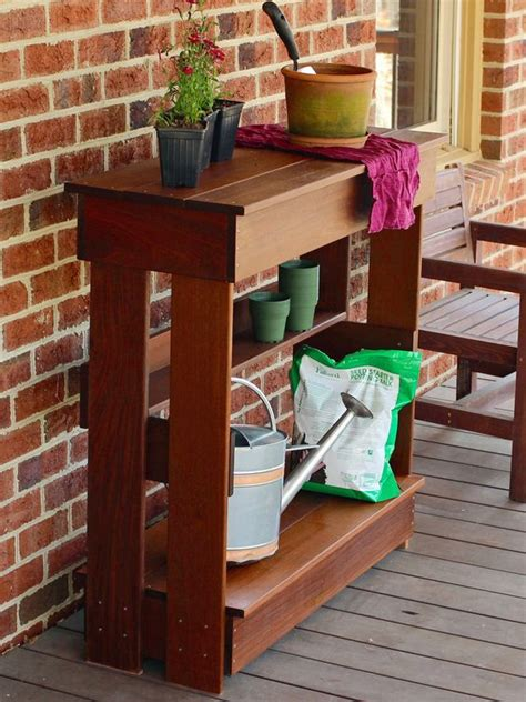 build your own potting bench patio bar and benches on pinterest