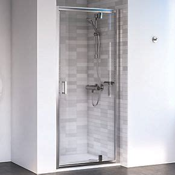 Aqualux Shine 6 Pivot Shower Door Polished Silver 760 X Screwfix Shower Doors