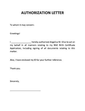 authorization letter to get birth certificate authorization letter to get documents on my behalf