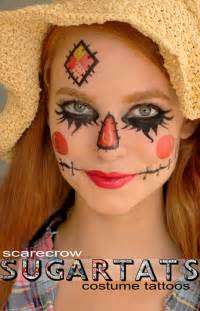 temporary face tattoos halloween items similar to scarecrow temporary tattoos costume