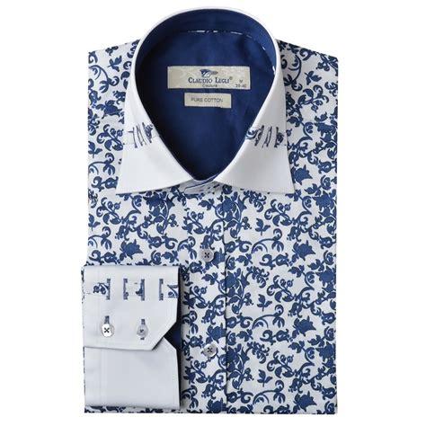 Dress Casual Custom Keren Motif Floral Limited Edtion floral print shirt mens custom shirt