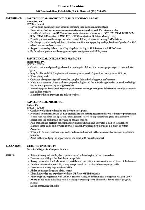 erp implementation resume sle ideas resume ideas