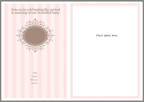 christening and naming celebration invitation template
