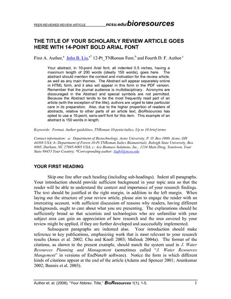 journal article review template amulette