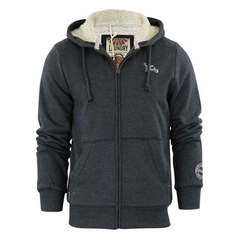 Sweater Hoodie Jumperzipper Marine mens hoodie tokyo laundry wolfe point sherpa lined zip up hooded jumper sweater ebay