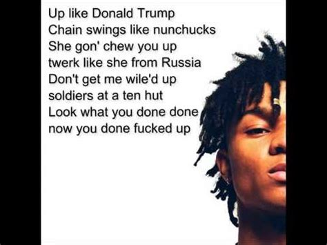 donald trump song rae sremmurd up like trump lyrics youtube