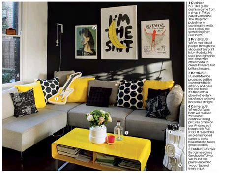 Yellow Black And Gray Living Room by Apartment Living