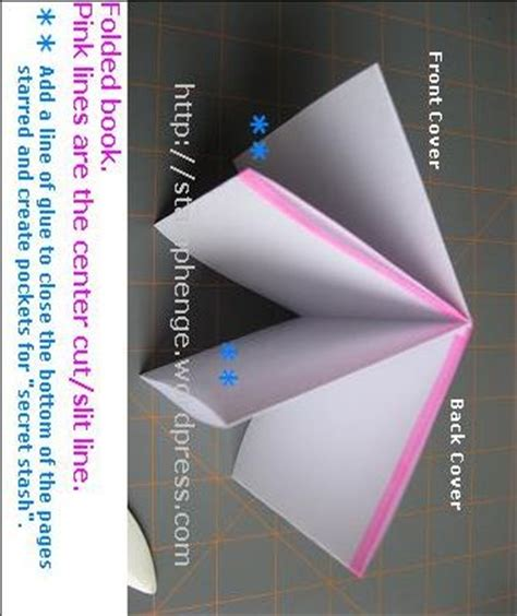 Origami With One Sheet Of Paper - one sheet folded minibook page one and