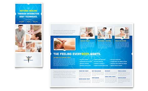 therapy flyer template chiropractor therapist phlet templates