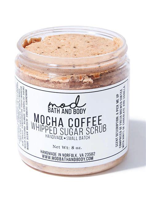 mod bathrooms mod bath and body mocha coffee whipped sugar scrub dolls kill