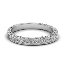 Wedding Bands Wedding Band With White In 14k White Gold