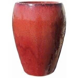 glazed large pots tall planter red pottery pots