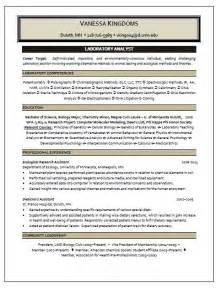 Lab Manager Resume by Laboratory Analyst Resume Sle Resume Writing Service