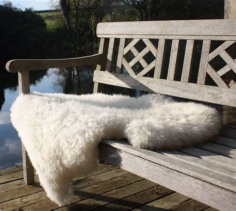 sheepskin rug by the forest co notonthehighstreet