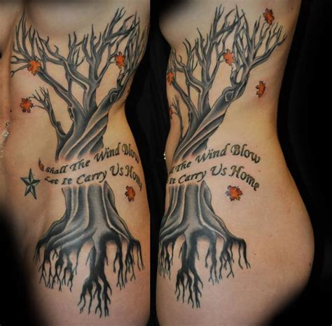 side tattoo designs female rib side tree design for tattooshunt