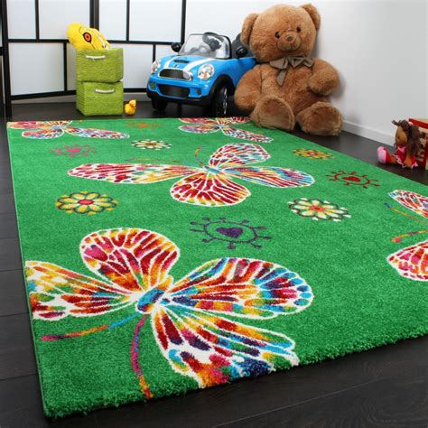 childrens butterfly rug rug butterfly design green multicoloured children s rugs