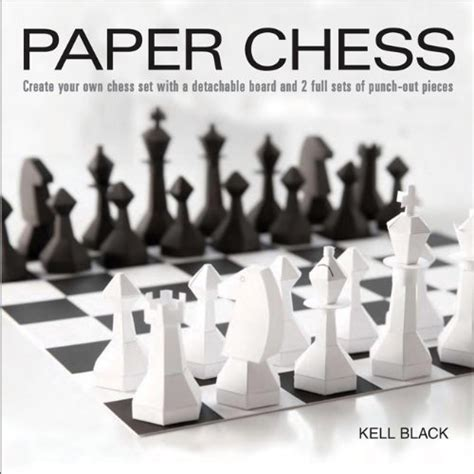 How To Make Pieces Out Of Paper - the kenilworthian paper chess set