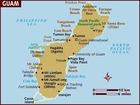Guam Search Map Of Guam