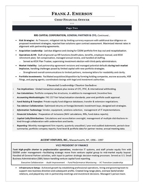 Exles Of Best Executive Resumes by Cfo Resume Template 28 Images Finance Director Resume