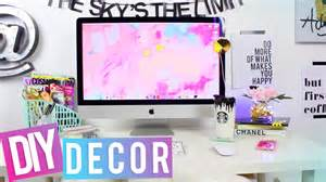 Decorations For Desk Desk Tour Diy Desk Decor Youtube