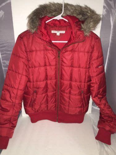 tommy hilfiger puffer jacket fur hood black women jones new york faux fur hood down belted