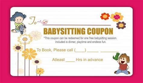 babysitting coupon book template babysitting coupon book template gallery template design