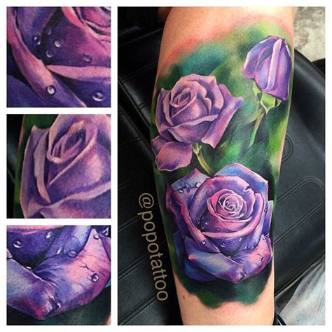 purple roses tattoo my lavender by zhang po ideas
