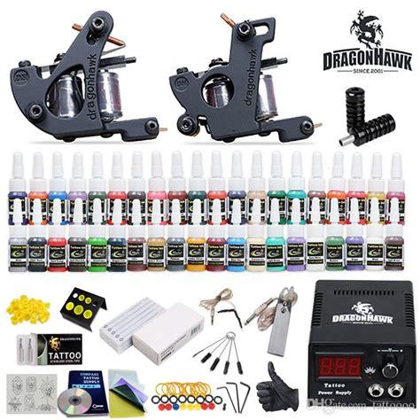 tattoo kits dhgate professional complete tattoo kits 2 guns machines 40 ink