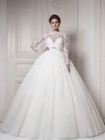 sleeve gown wedding dress 30 gorgeous lace sleeve wedding dresses