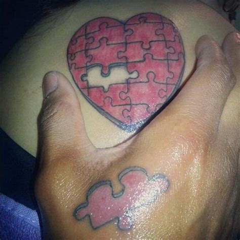 puzzle piece tattoo for couples 40 cool puzzle piece tattoo design ideas pieces tattoo