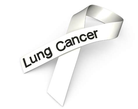 what color is the lung cancer ribbon