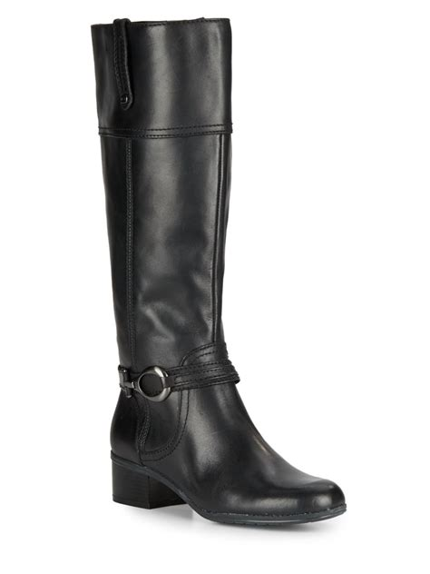 bandolino boots bandolino carlyle leather boots in black lyst