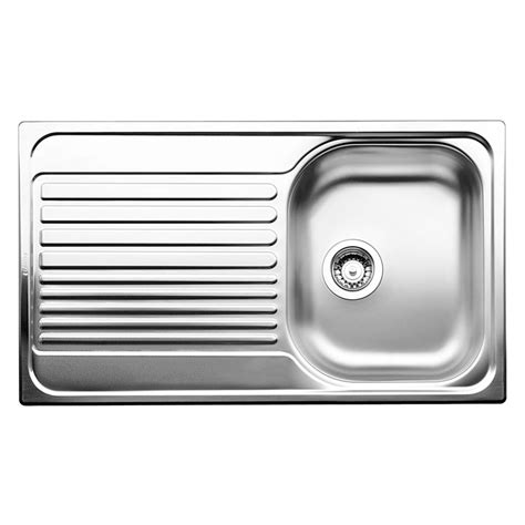 Single Sink Drainer by Blanco 45cm Tipo Right Single Bowl Stainless Steel
