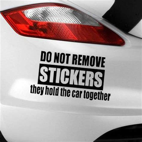 Silly Bumper Ring details about do not remove car sticker adhesive window bumper panel graphic decal