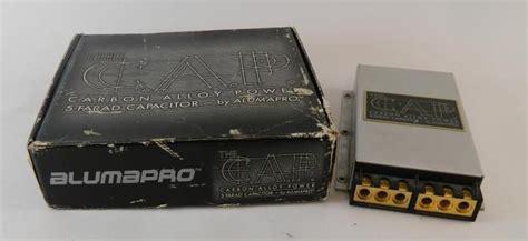 alumapro capacitor pair of alumapro 5 farad capacitors 1 nib 1 used ebay