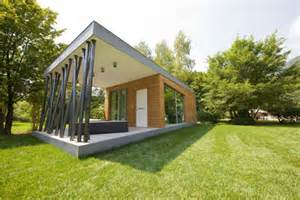 modern green house plans low impact prefab vacation cabin is at home anywhere