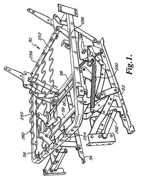 la z boy parts for recliner patent us7850232 zero clearance recliner mechanism