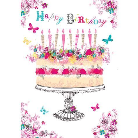 foil birthday cake birthday card  british heart foundation