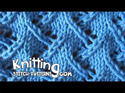 zig zag eyelet trellis pattern zig zag lace knitting youtube