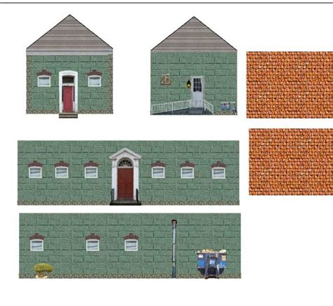 How To Make Paper Models Of Buildings - free printable textures the ho scale small