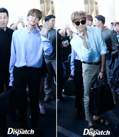 Celana Jin Bts Melorot intip harga airport fashion bts menuju acara billboard awards so fancy