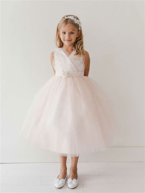 ttbp girls dress style  blush pink sparkly