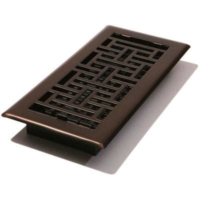 4 in x 10 in steel floor register rubbed bronze