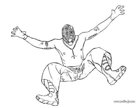 imagenes para colorear wwe dibujos para colorear famoso luchador wwe rey misterio