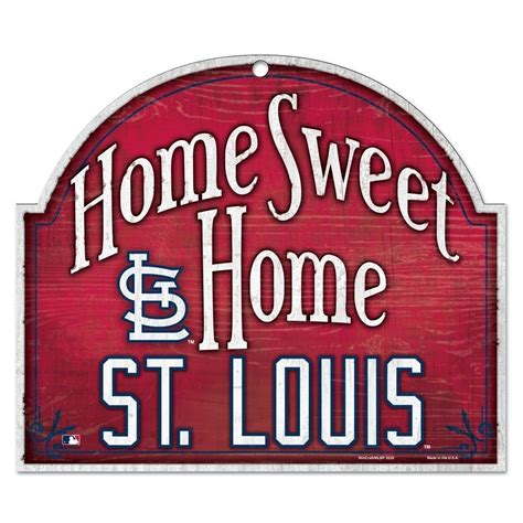 st louis cardinals official mlb home sweet home 10x11